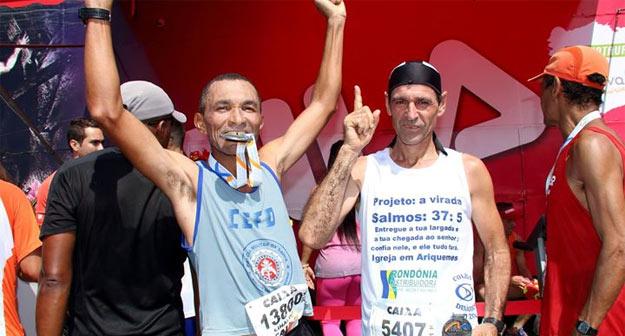 Cabo Linaldo comemora o 37º lugar na categoria na Meia Maratona do Rio