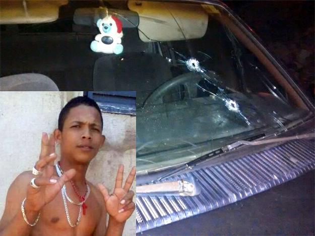 O carro em que Gugu estava também foi atingido pelos tiros. A polícia acredita que ele também está ferido