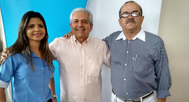 Tatiana da Silva Rego, Dó Miguel e o coordenador da Giro Fácil e grande amigo de infância, Debresco, um dos grandes entusiastas da pré-candidatura de Dó Miguel