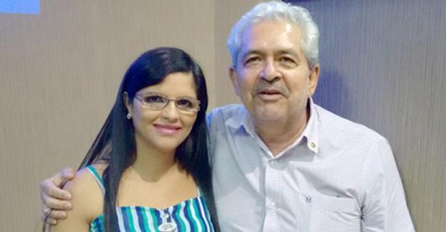 Ex-presidenta Adriana Morais e Dó Miguel