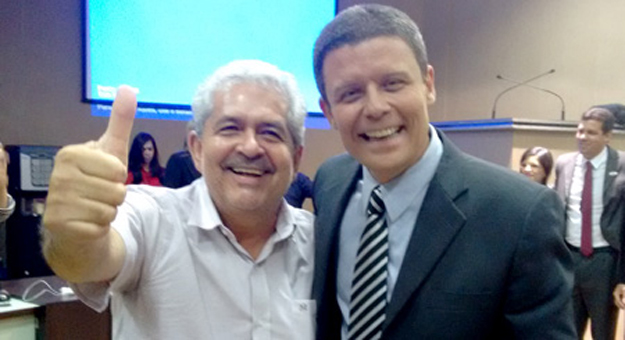 Dó Miguel e Carlos Augusto, âncora da TV Oeste