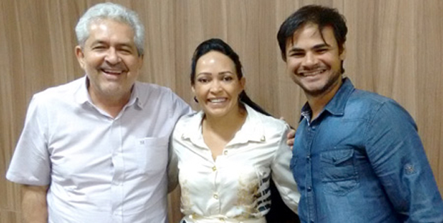 Dó Miguel, a empresária Sindicleia e seu esposo