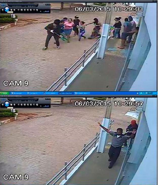 Quadrilha desarmou segurança e tomou clientes e funcionários de refém durante assalto em agência de Barro Alto, em março (Foto: Divulgação/ Polícia Civil)