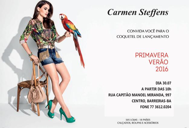 a9045243db12 A quinta-feira começa cheia de novidades. E a melhor de todas é que hoje  tem coquetel de lançamento na Carmen Steffens de Barreiras.