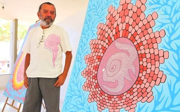 O artista plástico Ataliba Campos Lima usou sua mostra de arte para homenagear o amigo Vinícius Azzolin Lena, que nos deixou no último dia 03 de julho