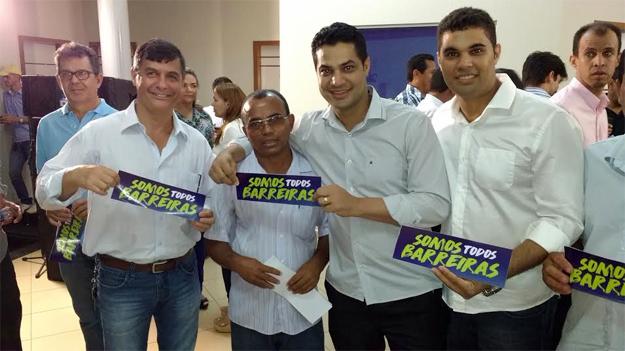 O médico Sidney Leme, Nem do Barrocão, Dr. José Barbosa e Dr. Marcos Pires apoiam a pré-candidatura de Zito a Prefeito de Barreiras